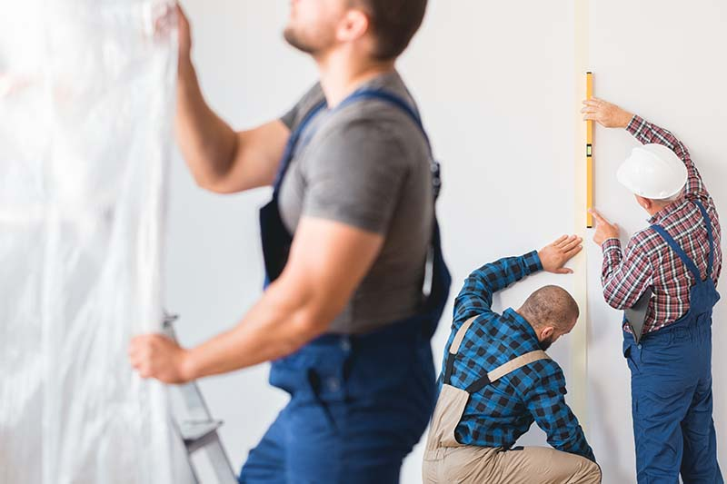 contractors at work